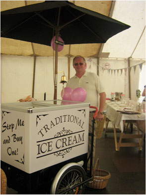 Traditional Ice cream bike for hire in Fife, Scotland