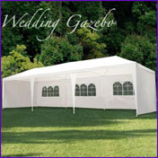 Wedding gazebo hire by Tricycle Treats Bike Hire of Fife, Scotland