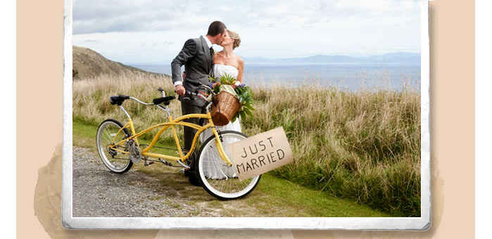 Tricycle Treats Vintage Tandem hire for weddings and events in Fife and Scotland