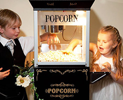 Popcorn hire by Miss Pepperday's Tricycle Treats